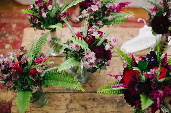 centros de mesa tonos lila
