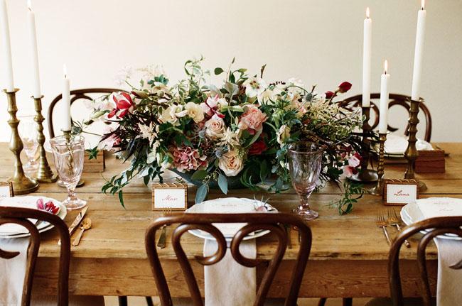 centro de mesa flores colores