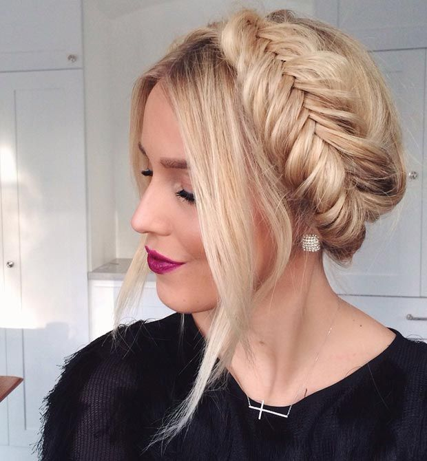 20 ideas de bellos peinados para mujeres y nias faciles - Fishbone Braid Hairstyles