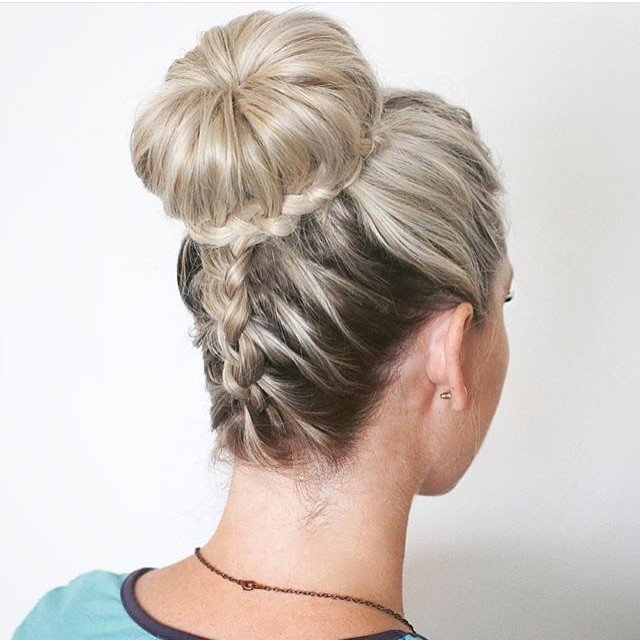 peinado recogido con trenza detrás