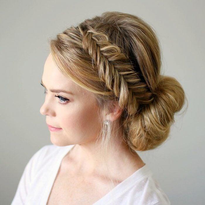 20 ideas de bellos peinados recogidos elegantes y femeninos - Ideas para peinar cabello largo ...