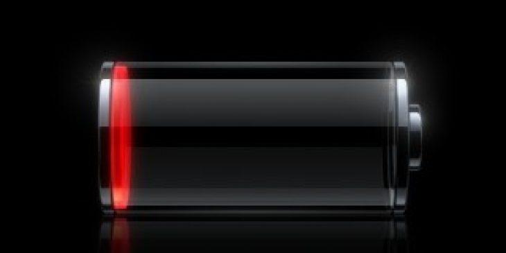 imagen de batería de celular baja