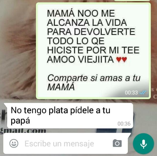 20 Mensajes Whatsapp que sólo una madre es capaz de enviar