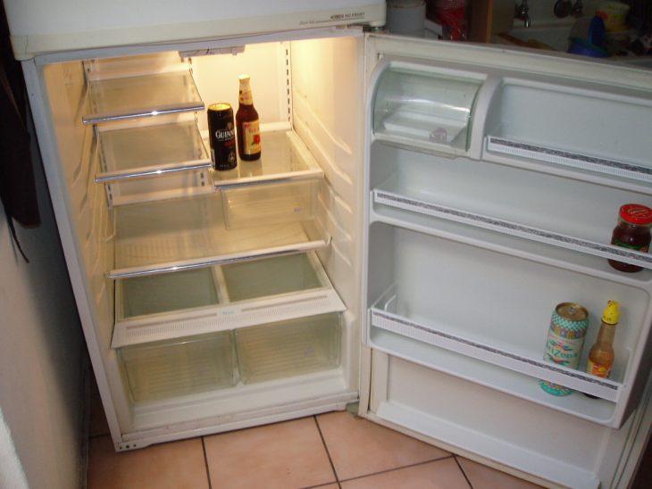 refrigerador casi vacío