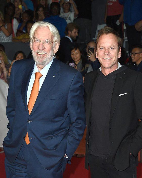 Donald y Kiefer Sutherland