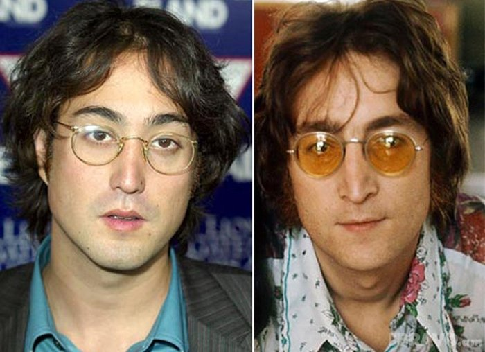 John y Sean Lennon
