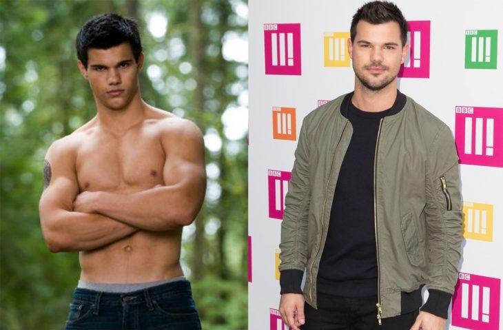 Taylor lautner antes y después en crepúsculo