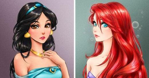 Así lucirían las princesas de Disney si fueran personajes de anime ¡Se ven hermosas!