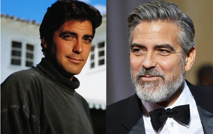 George Clooney antes y después