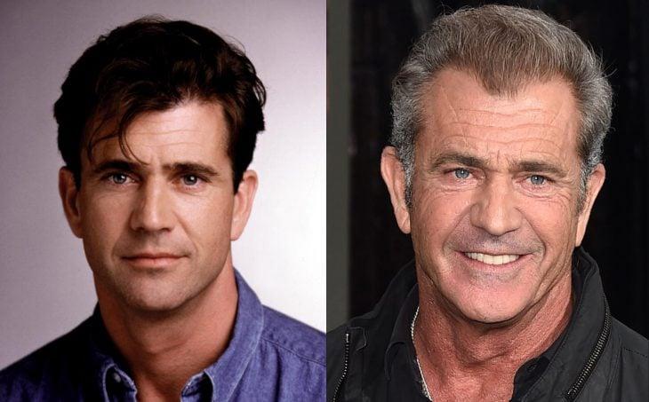 Mel Gibson antes y después