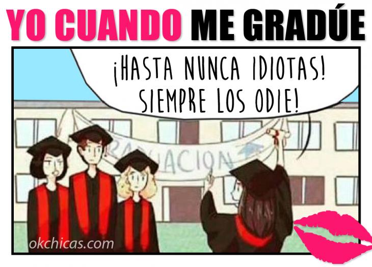 Meme okchicas día de la graduación