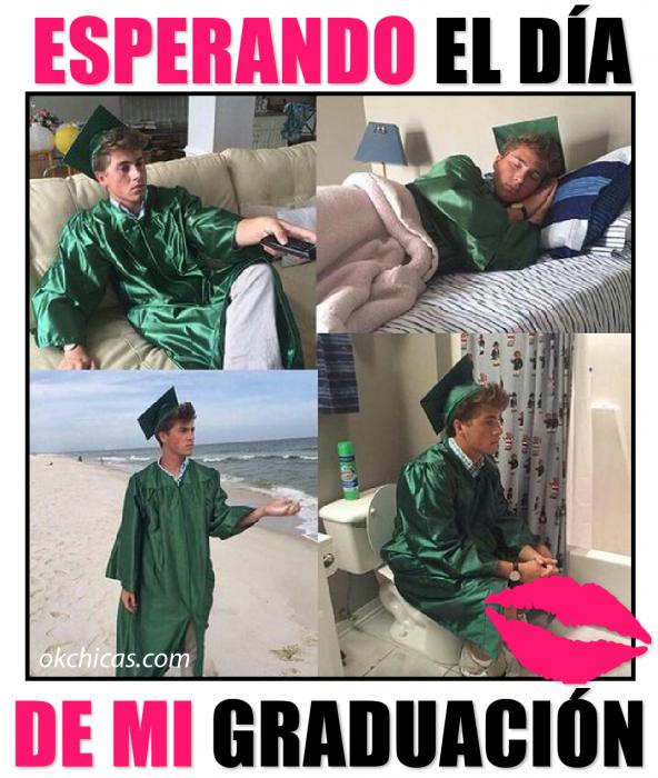 meme okchicas. esperando el día de la graduación