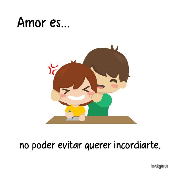 Ilustraciones de LoveByte explicando que es el amor. Compartir momentos divertidos