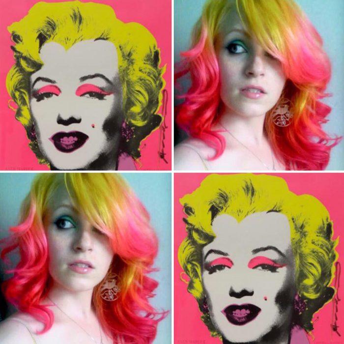 Marilyn Monroe y tinte igual