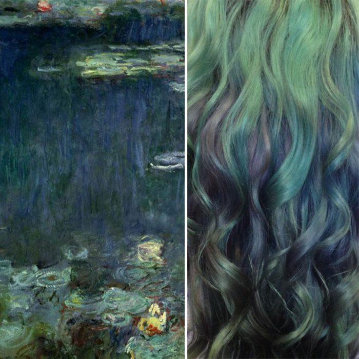 Water lilies y tinte igual