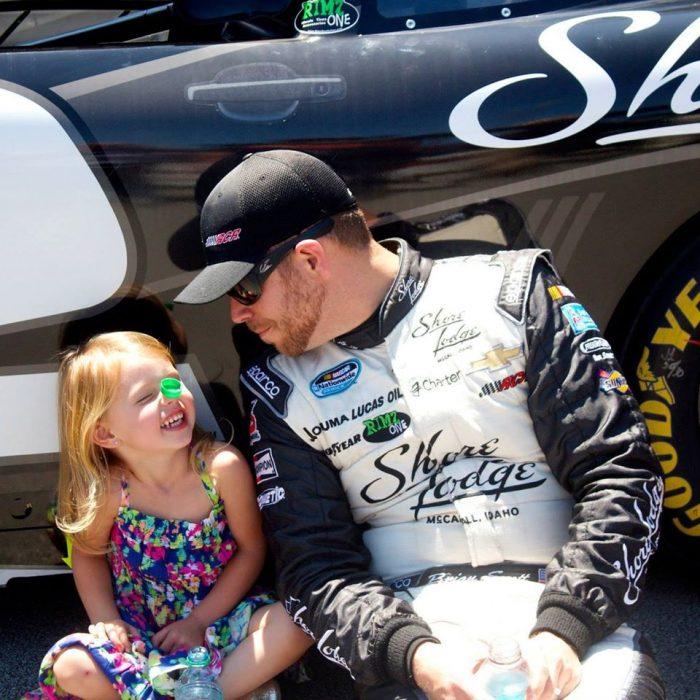 Brian scott junto a su hija Brielle