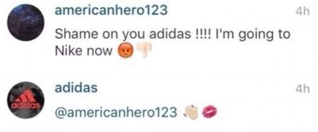 Cometarios homofóbos en la cuenta de Instagram de Adidas