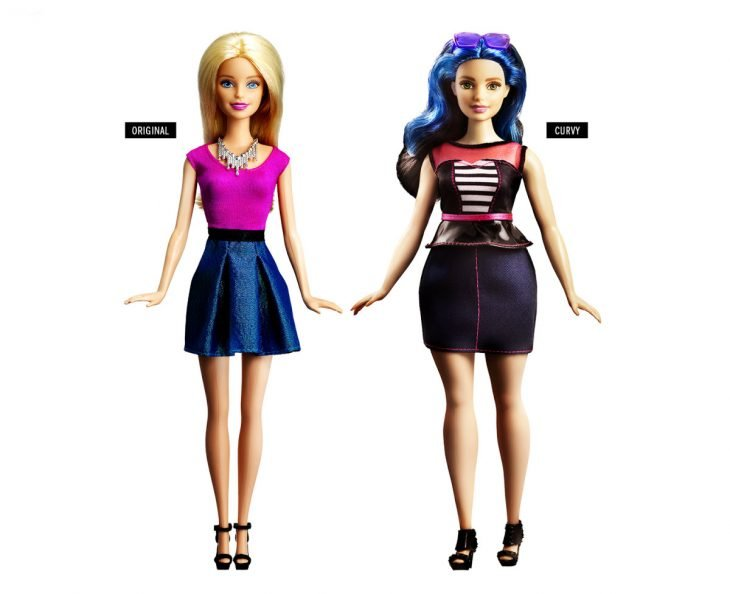 Barbie original y barbie curvy