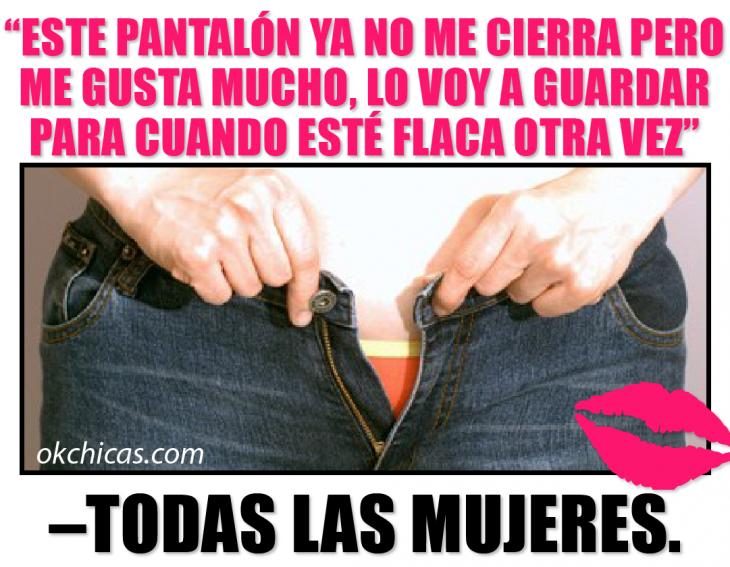 mujeres meme de pantalones que no cierran