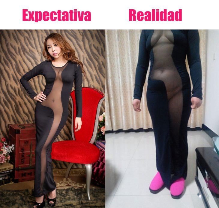 Expectativa vs. realidad cuando pides cosas en línea