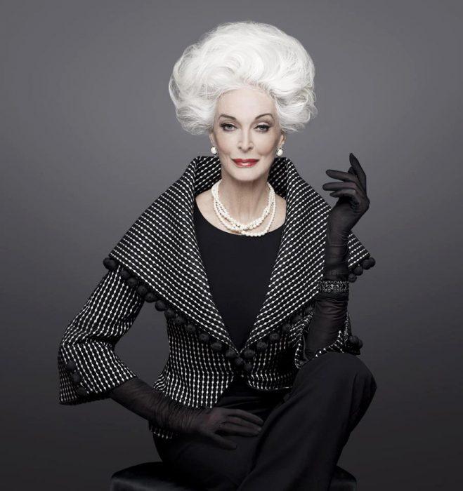 Carmen Dell'Orefice Modelo de 84 años