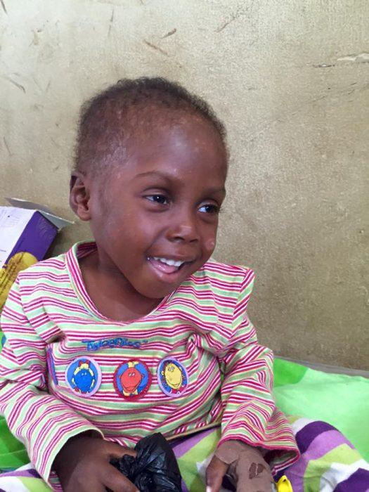 Hope, niño rescatado en Nigeria