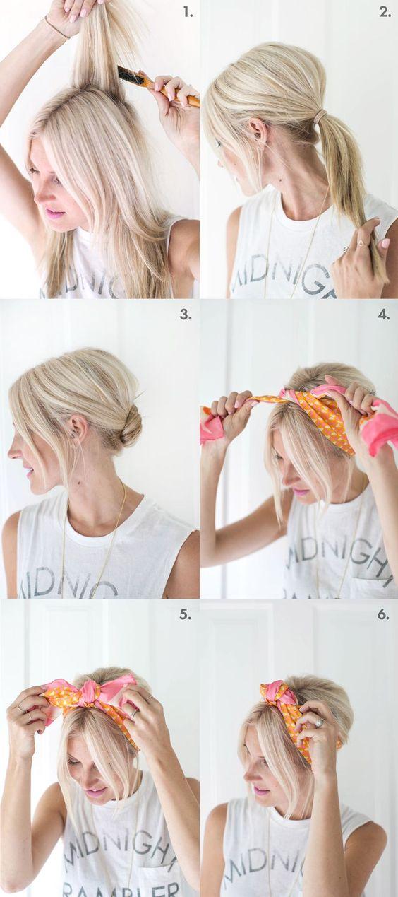 Más cautivador peinados con pañuelo Colección de cortes de pelo estilo - 20 peinados con pañuelos que deberás probar este verano