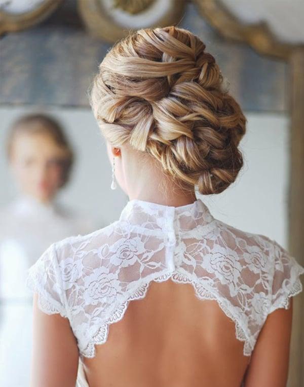 peinados para el da de tu boda chica con un chongo bajo de lado hecho con