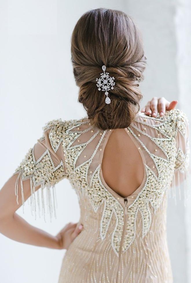 25 hermosos peinados para el d a de tu boda te encantar n - Monos bajos novia ...