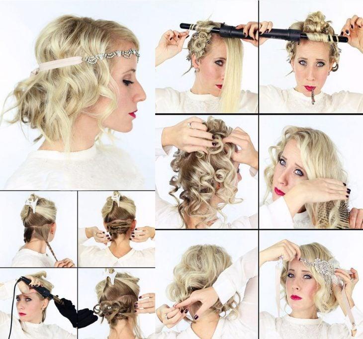 Peinados para fistas. Moño de los años 50