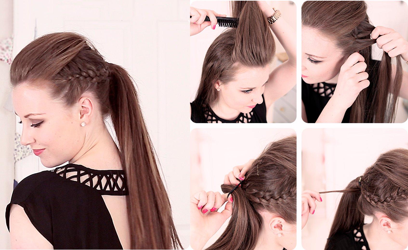 Peinados con trenzas fiesta imgenes con peinados faciles - Peinados de moda faciles de hacer en casa ...