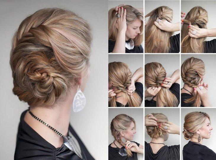 Peinados para fiestas estilo Elsa de Frozen