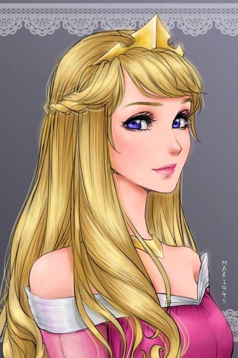 Aurora diseñada como anime