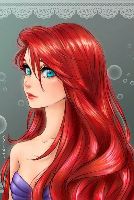 Ariel diseñada como anime