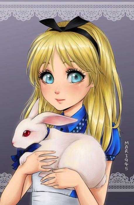 Alicia diseñada como anime