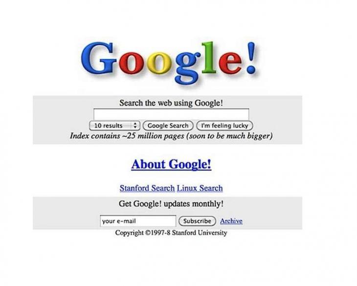 pagina vieja de google buscador