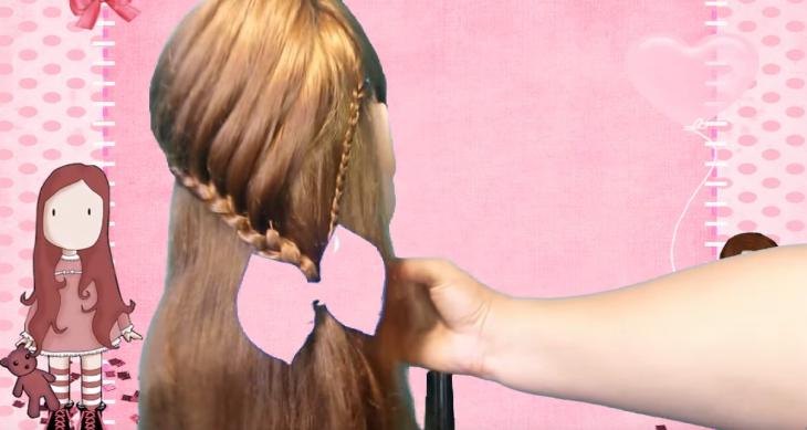 peinado para niña trenza de cascada con moño
