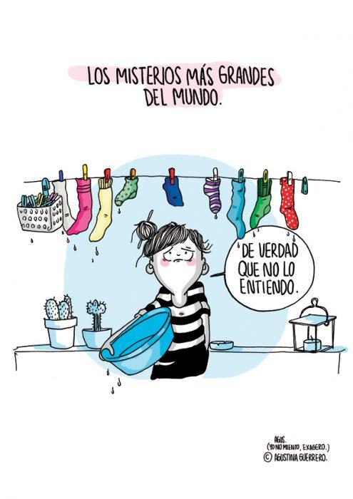 Ilustración de cuando se te pierden los calcetines