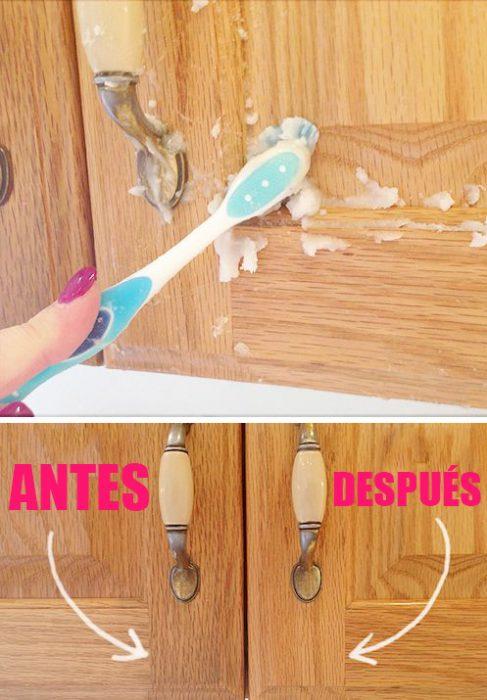 Como limpiar los muebles con un cepillo de dientes