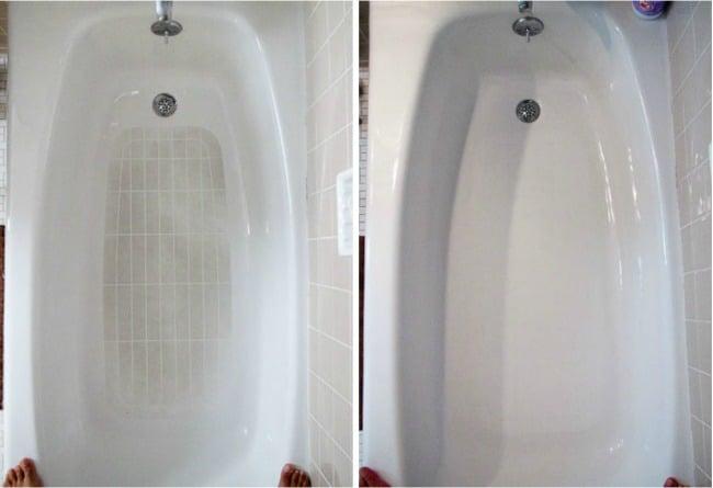 Cómo limpiar la bañera para que esté blanca