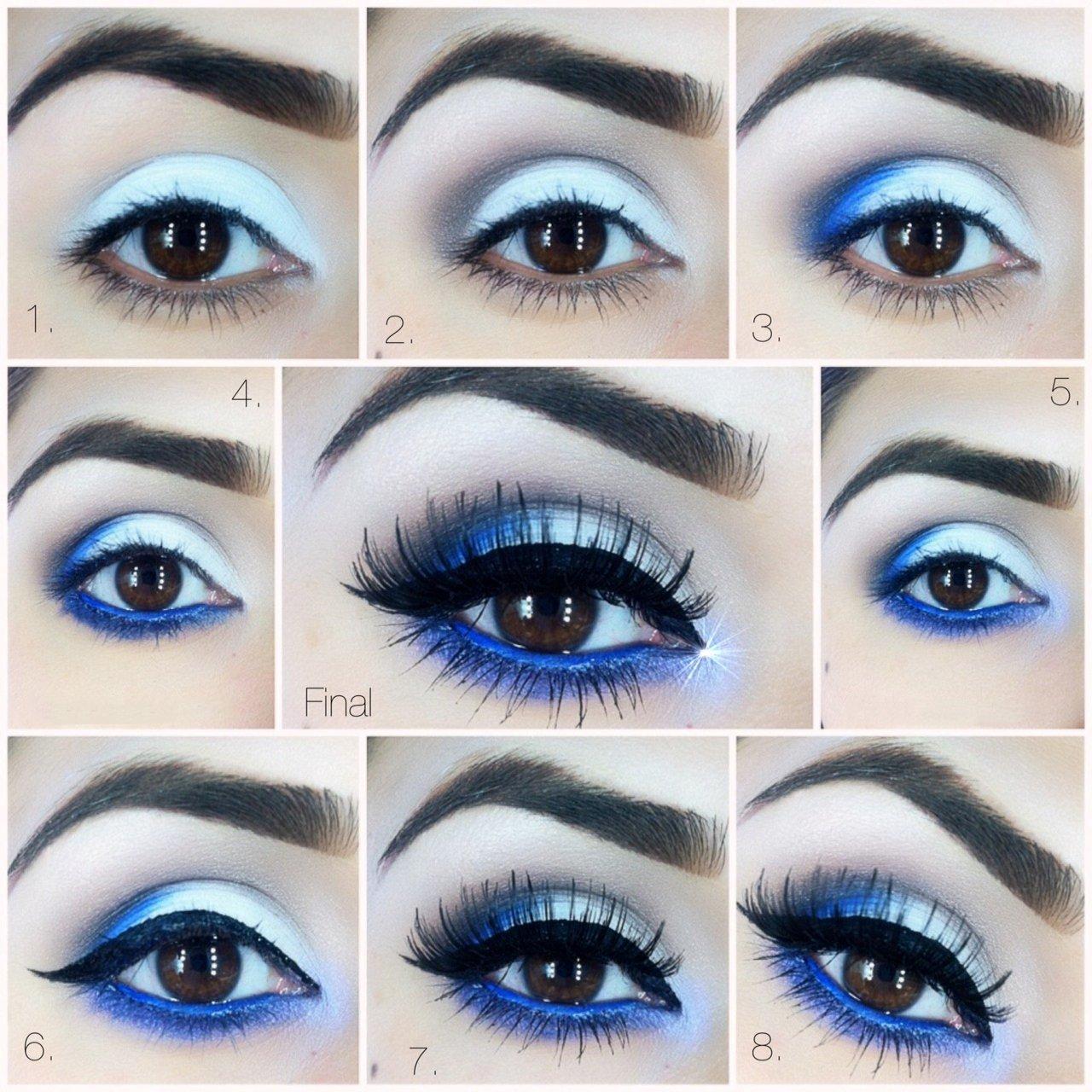 Maquillaje de ojos de noche vestido negro