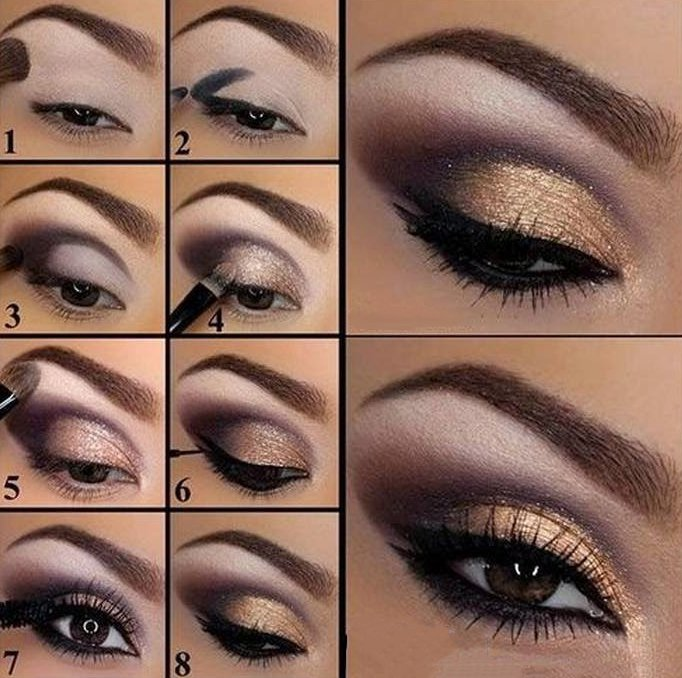 Applying Eye Makeup For Wedding Day : 20 Tutoriales de maquillaje de noche que te encantaran