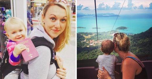 Niña de 1 año, ha viajado toda su vida alrededor del mundo