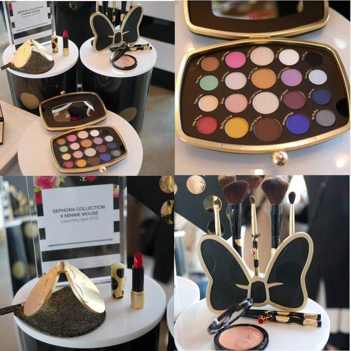 Gama de maquillajes de sephora con diseños de Minnie mouse