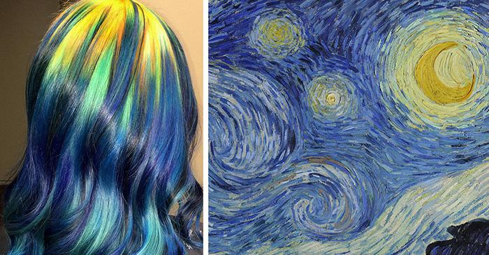 Estilista reinterpreta pinturas famosas en cabellos