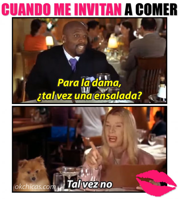 meme hombre con mujer en una cena ella no quiere ensalada