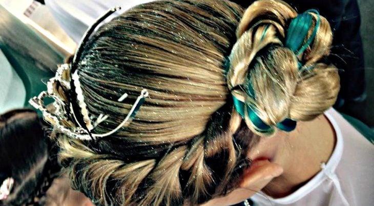 peinados para niñas trenza inspirado en elsa de frozen
