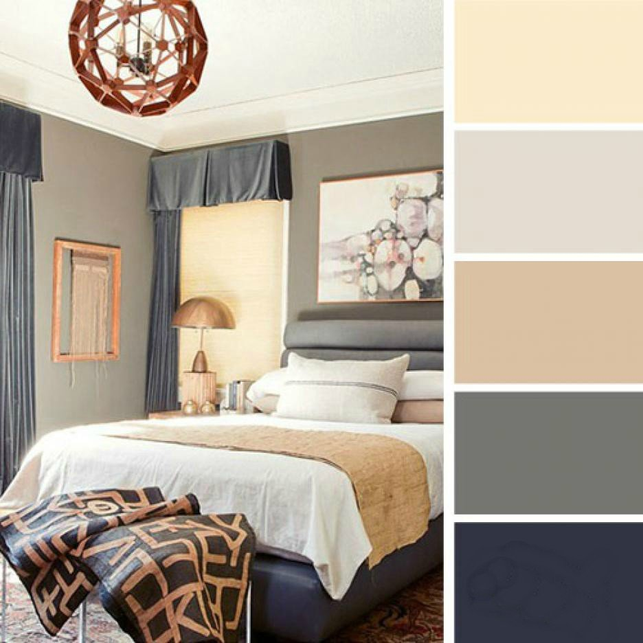 15 ideas de combinaciones de colores para tu dormitorio for Pintura gris para interiores