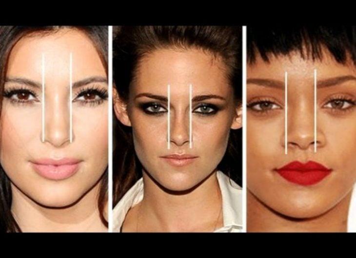 chicas ejemplo tipos de nariz y diseño de cejas