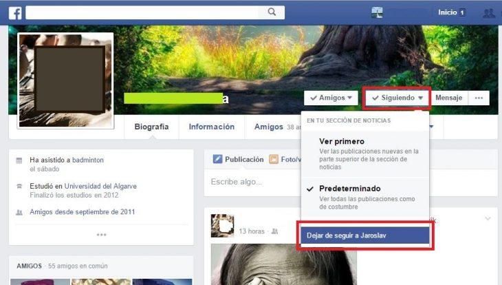 aprende a dejar de seguir personas en facebook